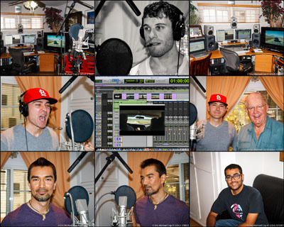 ADR voice over recording session Los Angeles studio