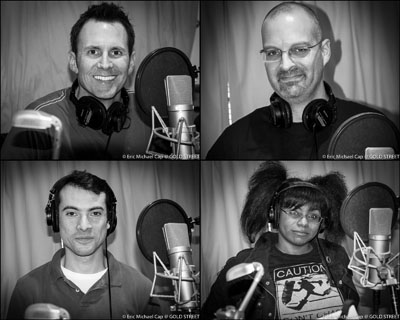 Cartoon Animation Voice Over recording session Los Angeles